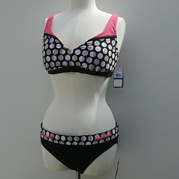842084cff5 Jag Swim | Black White Polka Dot Crisscrossback Bikini | Poshmark